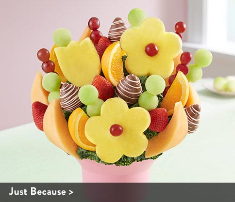 Just Because Fruit Bouquets Arrangements